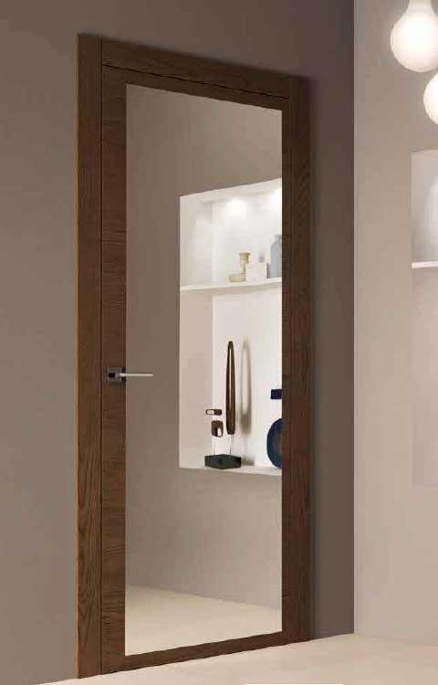 Specchio porta da interno in legno - Porta a specchio ...